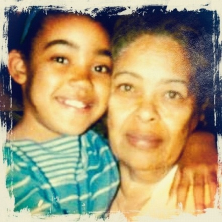me and my gran! shortly after she got legal custody of me. i think i twas about 8, which made her 58. doesn't she look sweet?