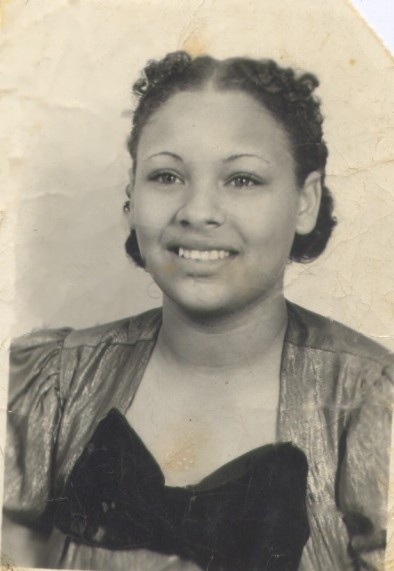 she said she was about fourteen in this picture. she manicured her own eyebrows with a straight razor! :/